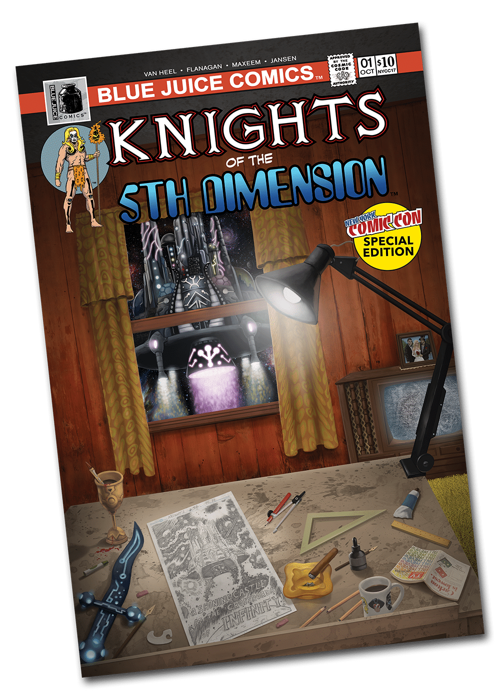 Knights of the 5th Dimension - New York Comic Con Cover 2017